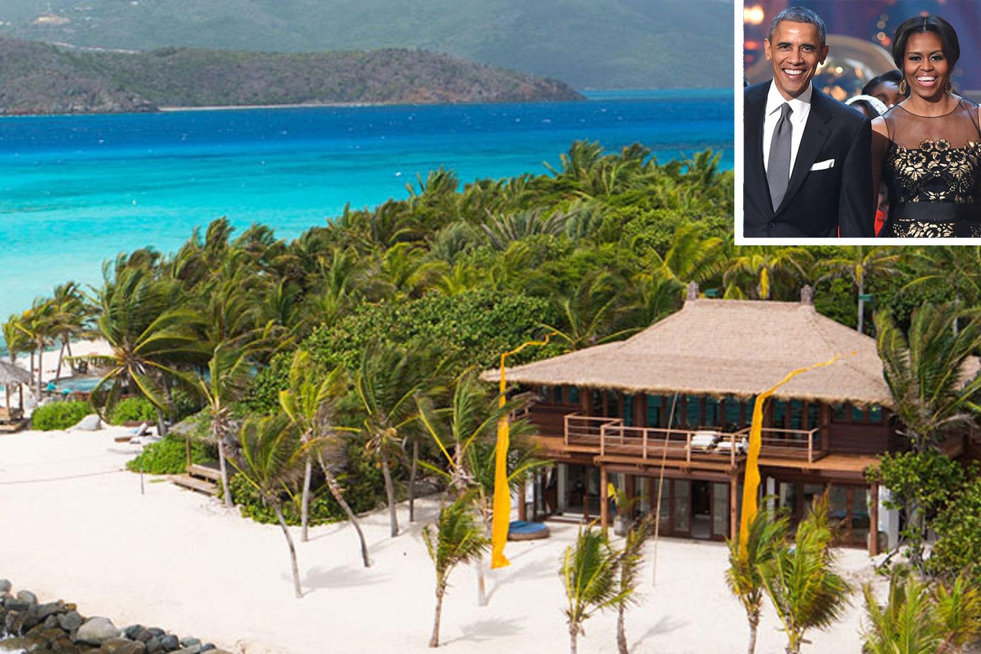 Michelle And Barack Obama On Vacation British Virgin Islands